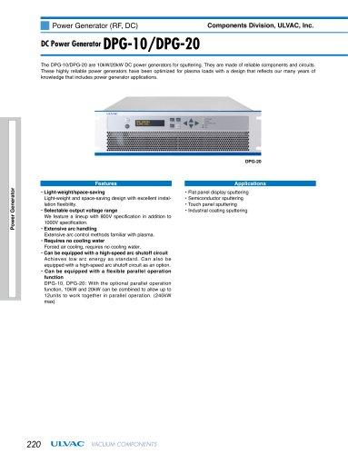 DC Power Generator DPG-10, DPG-20