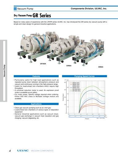 Dry Vacuum Pump GR Series