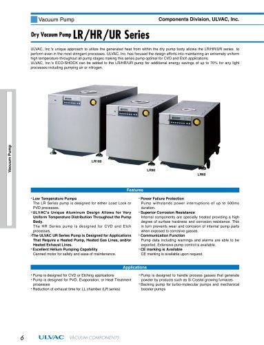 Dry Vacuum Pump LR/HR/UR Series