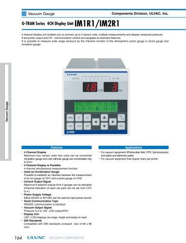 G-TRAN Series 4CH Display Unit IM1R1, IM2R1