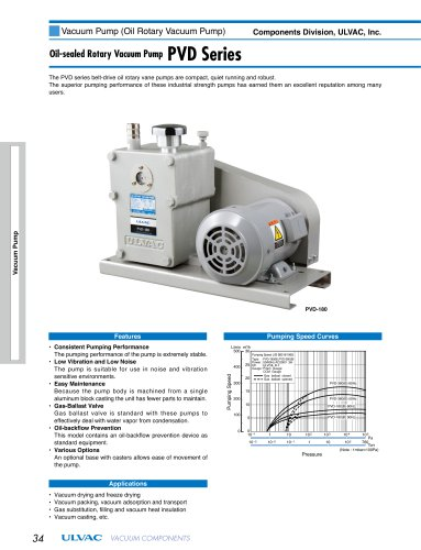 Oil-sealed rotary vacuum pump PVD Series