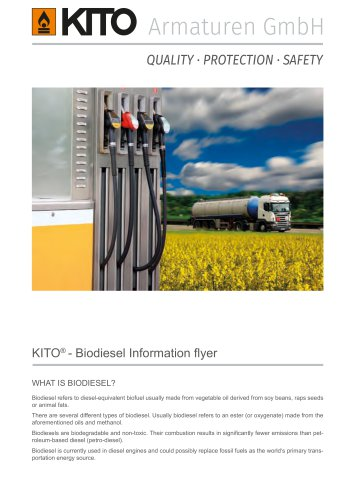 KITO® - Biodiesel Information flyer