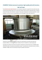 CHAENG+Ball mill trunnion+Cement industry+The hardness and life expectancy high