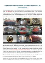 CHAENG+Steel casting+Cement industry+High abrasion resistance