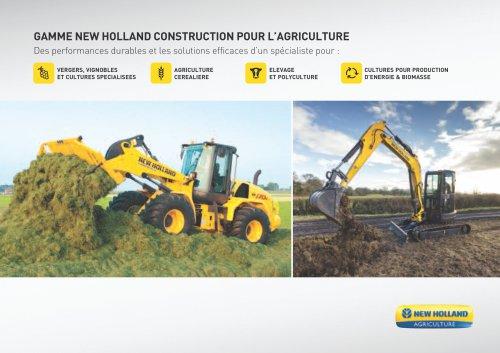 GAMME NEW HOLLAND CONSTRUCTION POUR L'AGRICULTURE