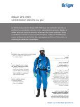 Dräger CPS 7800 Combinaison étanche au gaz