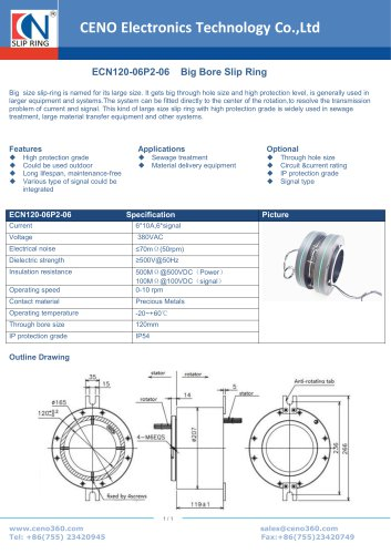 CENO Big Hole Slip Ring ECN120-06P2-06