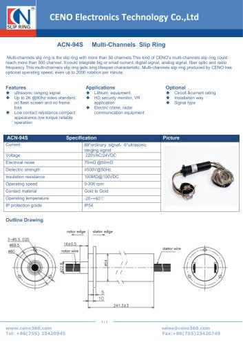 CENO Capsule Multi Channels Slip Ring ACN-94S