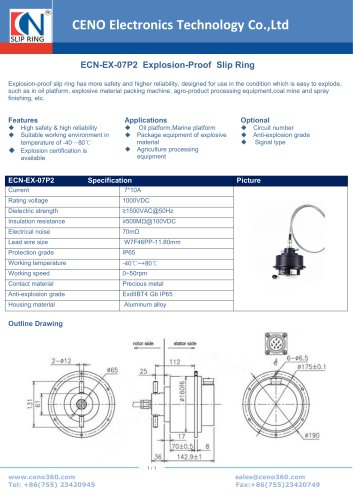 CENO Explosion-Proof Slip Ring ECN-EX-07P2