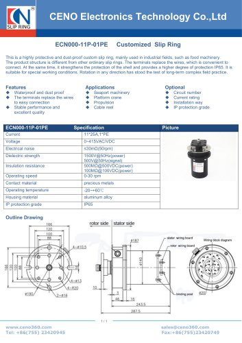 CENO Slip ring for sewage treatment equipment ECN000-11P-01PE
