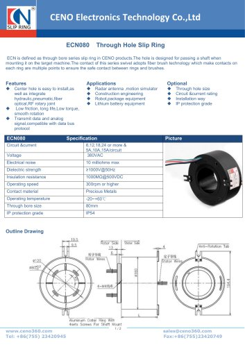 CENO Through Hole Slip Ring ECN080