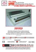 GM60MSN / Pulse sealing unit for packing material to be sterilized
