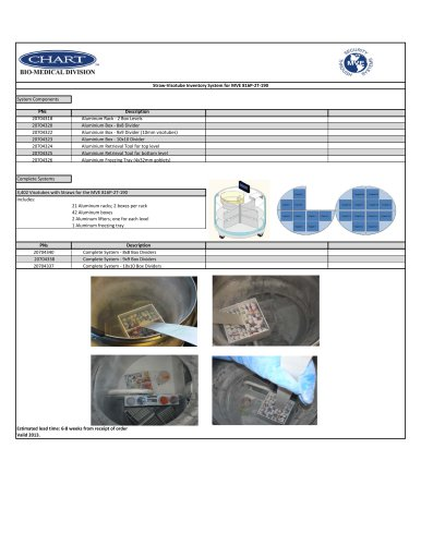 MVE 816P-2T Straw-Visotube Inventory Systems