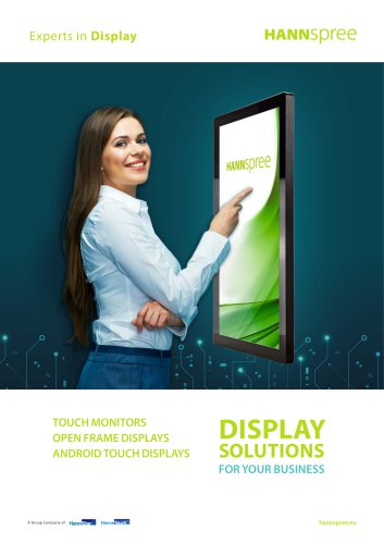 HANNspree Touch Displays Leaflet