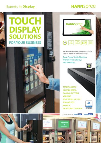 HANNspree Touch Displays range
