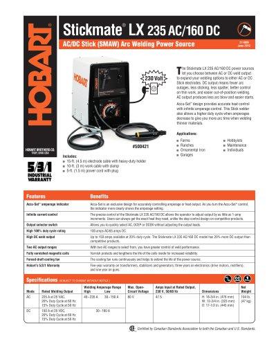 Stickmate LX 235 AC / 160 DC