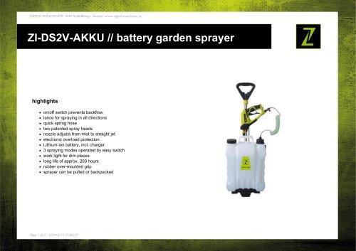 ZI-DS2V-AKKU // battery garden sprayer