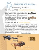 HS-10 and HS-20, HV-25 and HV-30 Headcutting Machines