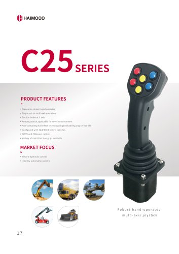 C25 Robust hand-operated multi-axis joystick