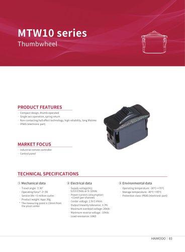 MTW10 Thumb wheel