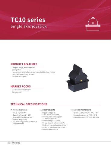 TC10 Thumb-operated joystick