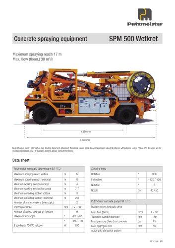 Concrete spraying equipment SPM 500 Wetkret