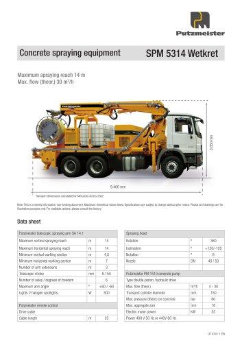 Concrete spraying equipment SPM 5314 Wetkret