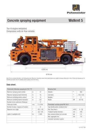 Concrete spraying equipment Wetkret 5