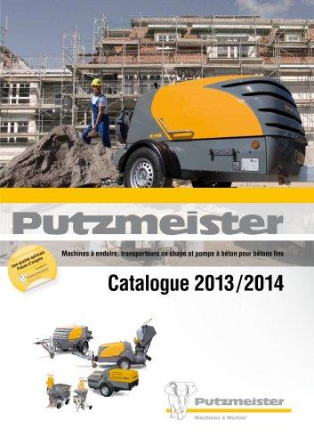 Machines à enduire, transporteurs de chape et pompe à béton pour bétons fins. Catalogue 2011/2012