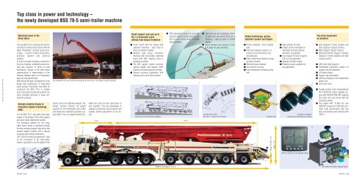 The worldwide biggest truck-mounted concrete pump on construction sites