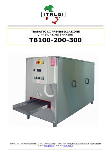 TB100-200-300 / PRE-DRYING SHAKERS