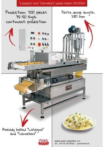 Cannelloni and lasagna machine