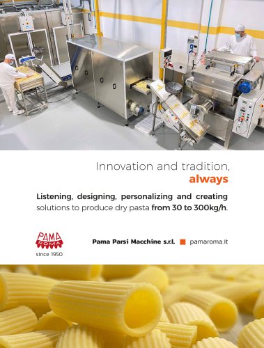 Dry pasta machines and lines