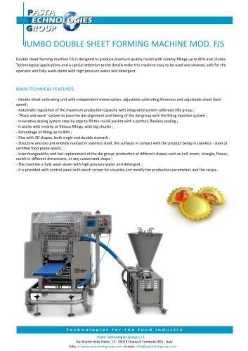 JUMBO DOUBLE SHEET FORMING MACHINE MOD. FJS