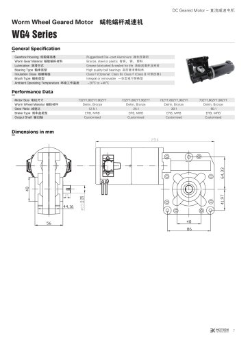 DC GEAR-MOTOR/WORM/WG4 Series