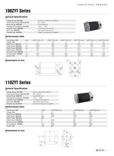 DC MOTOR/BRUSHED/110ZYT Series
