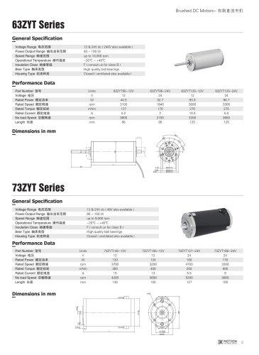 DC MOTOR/BRUSHED/73ZYT Series