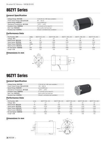 DC MOTOR/BRUSHED/80ZYT Series