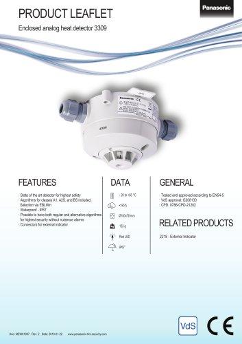 Enclosed analog heat detector 3309