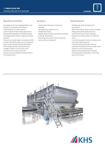 Innoclean DM double-end bottle washer