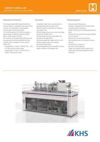 Innosept Asbofill ABF 611/ABF 711 Aseptic Filler