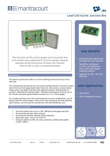 JBA Product sheet