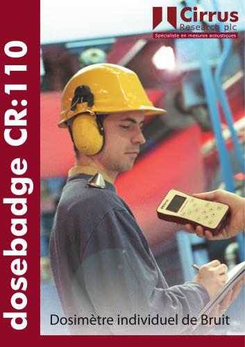 CR:110A doseBadge Dosimètre individuel de Bruit