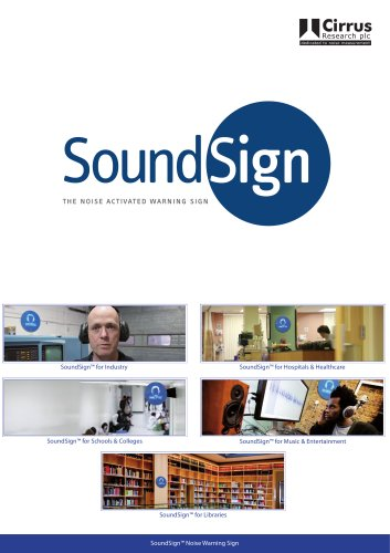 CR:201 Sond Sign Noise Activated Warning Sign