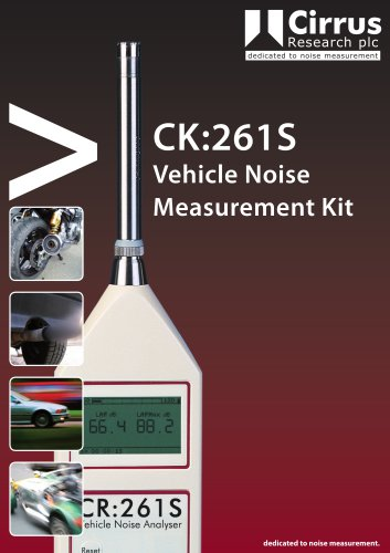 CR:261S Vehicle Noise Sound Level Meter