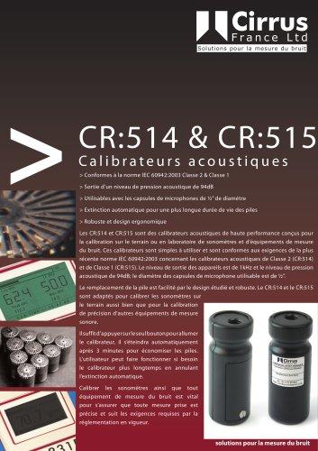CR:514 & CR:515 Calibrateurs acoustiques