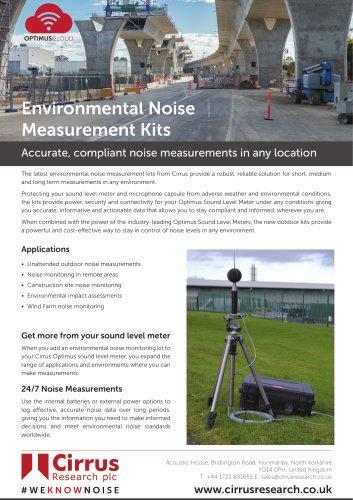Environmental Noise Measurement Kits