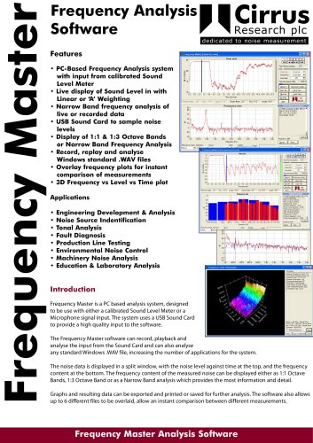 Frequency Master Frequency Analysis Software
