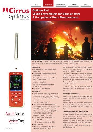 Optimus red Sound Level Meters