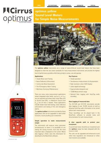 Optimus yellow sound level meters